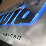 Illuminated metal signage
