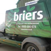 vinyl wrap recycling lorry graphics