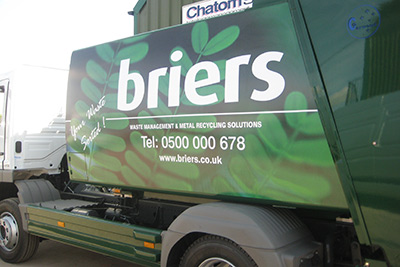 Full vinyl wrap of commercial lorry
