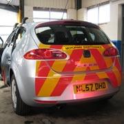 Seat Leon high visibility stripes