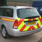 Ford Focus high visibility stripes