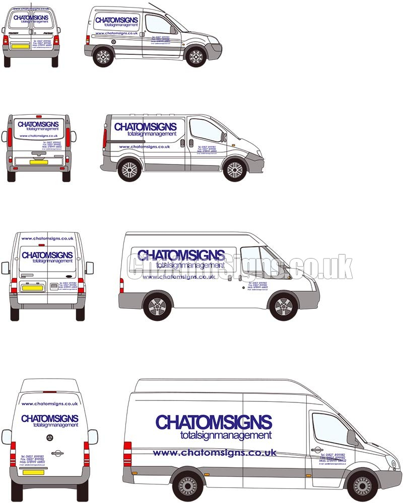 Single Colour Text / Logo Small Van
