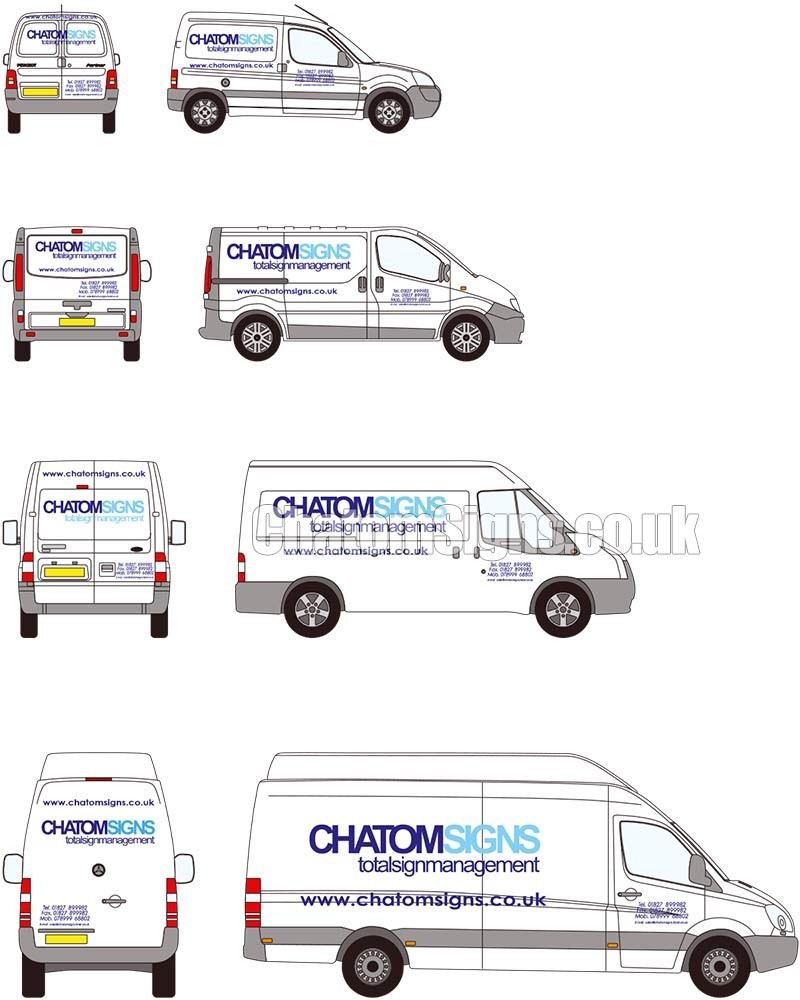 Two Colour Text / Logo Small Van
