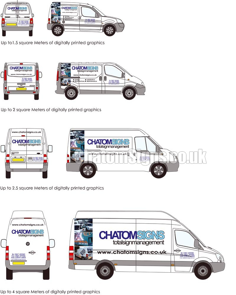 Full Colour Text / Logo Small Van