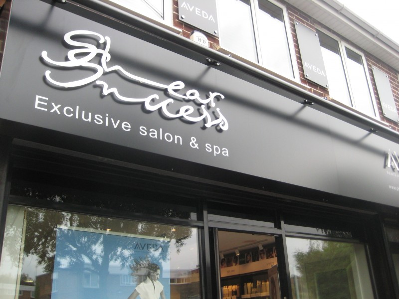Salon and Spa sign with Aluminium stand-off lettering