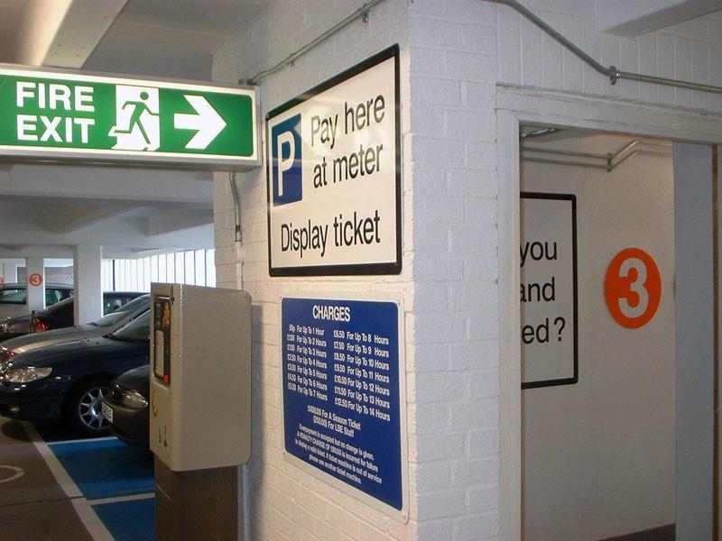 Car Park Multi Signs